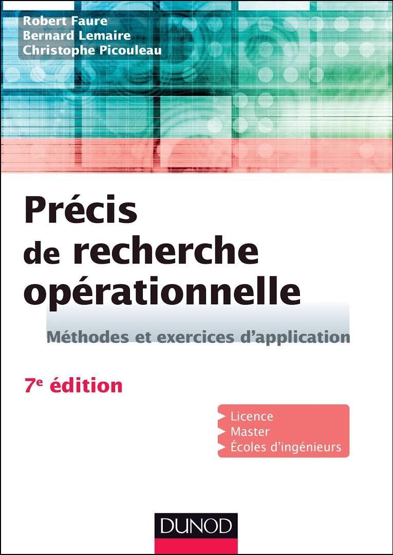 télécharger Précis de recherche opérationnelle : Méthodes et exercices d'application