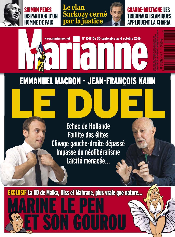 Marianne N°1017 - 30 Septembre au 06 Octobre 2016