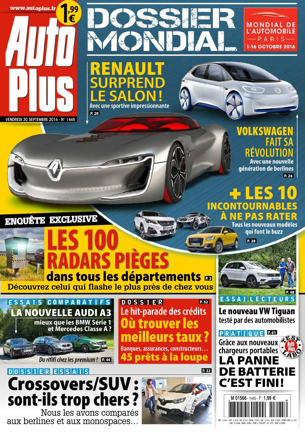 Auto Plus N°1465 - 30 Septembre au 06 Octobre 2016