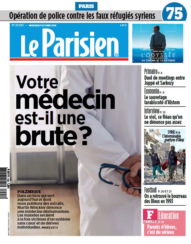 Le Parisien + journal de Paris du Mercredi 5 Octobre 2016