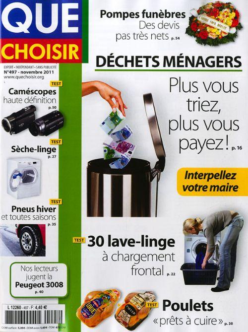 Que Choisir N°497 - Déchets ménagers