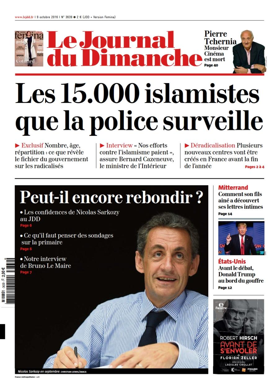 Le Journal du Dimanche 3639 du 09 Octobre 2016