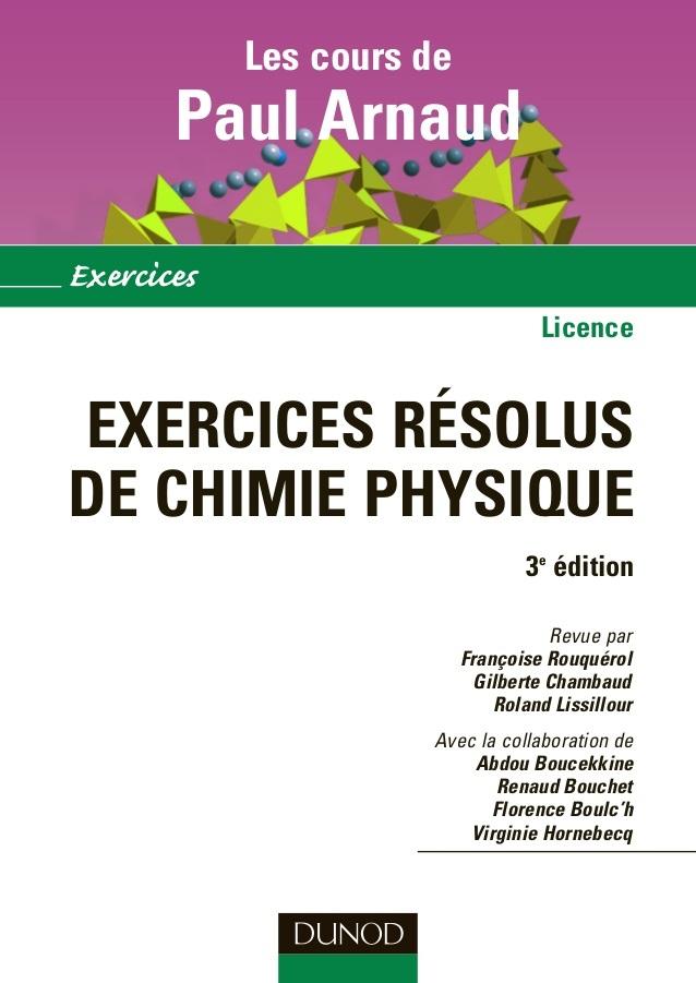 télécharger Exercices résolus de Chimie Physique - 3ème édition