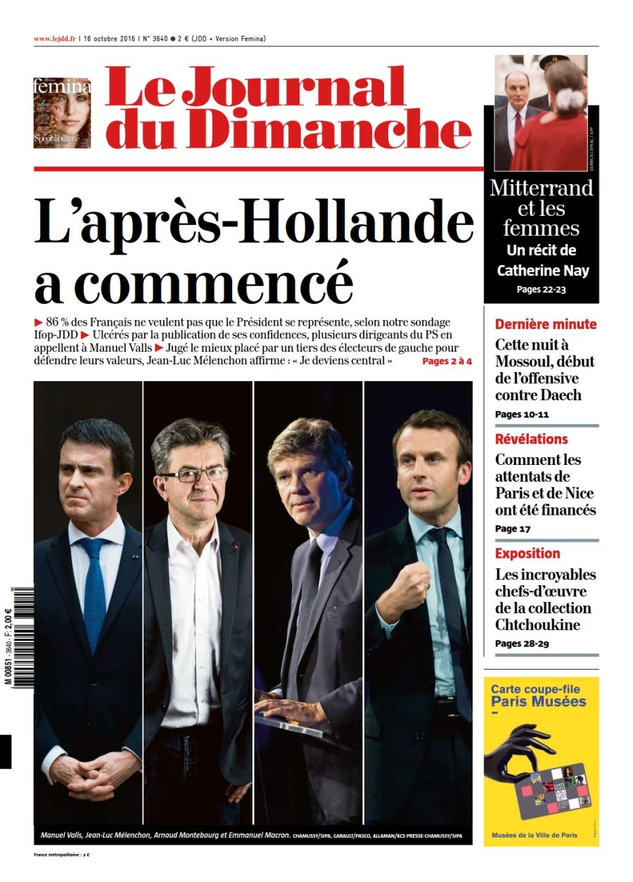 Le Journal du Dimanche n°3640 du 16 Octobre 2016