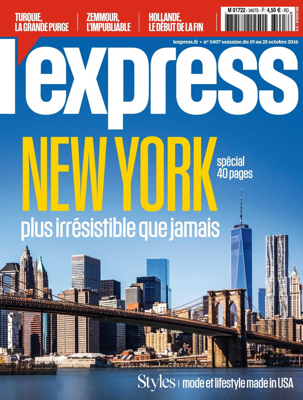L'Express 3407 - 19 au 25 Octobre 2016