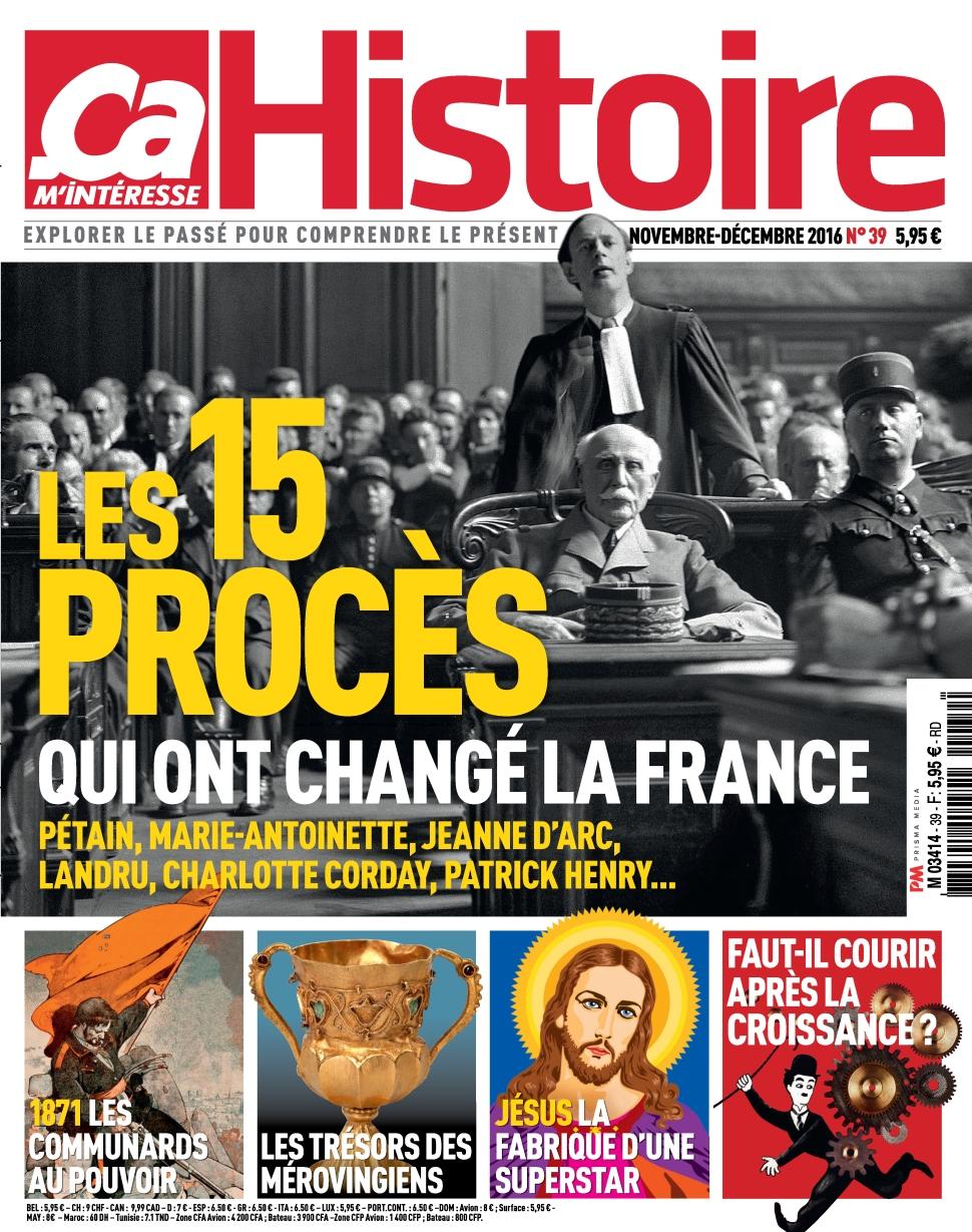 Ça M'Intéresse Histoire 39 - Novembre/Décembre 2016