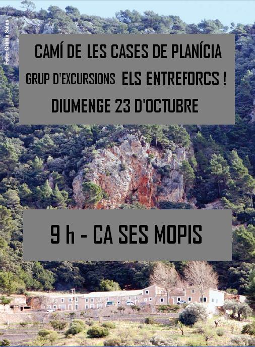 Excursió al camí de les cases de Planícia organitzada per «Els Entreforcs!» (23-10-16)