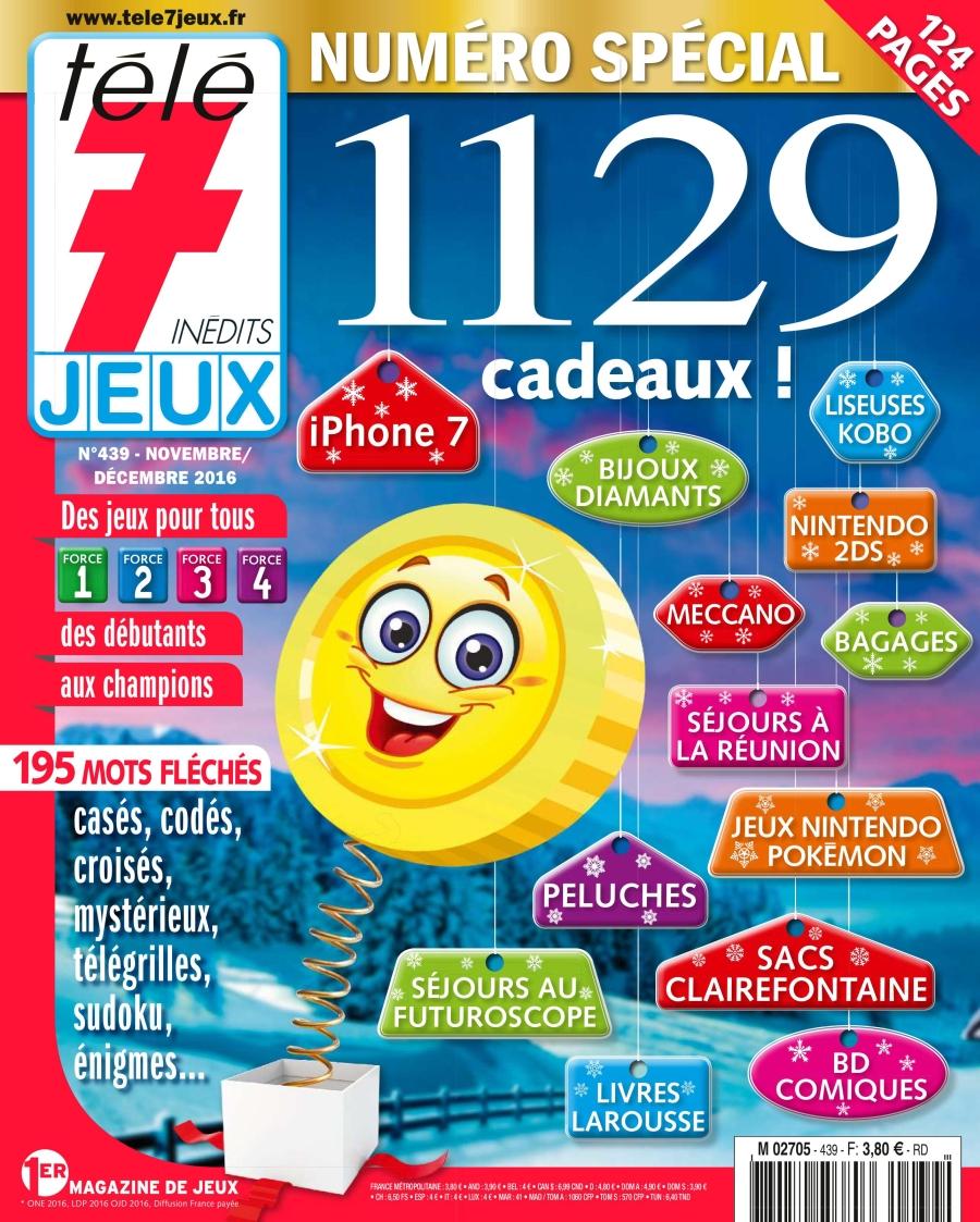 Télé 7 Jeux Inédits N°439 - Novembre/Décembre 2016