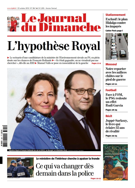 Le Journal du Dimanche N°3641 du 23 Octobre 2016