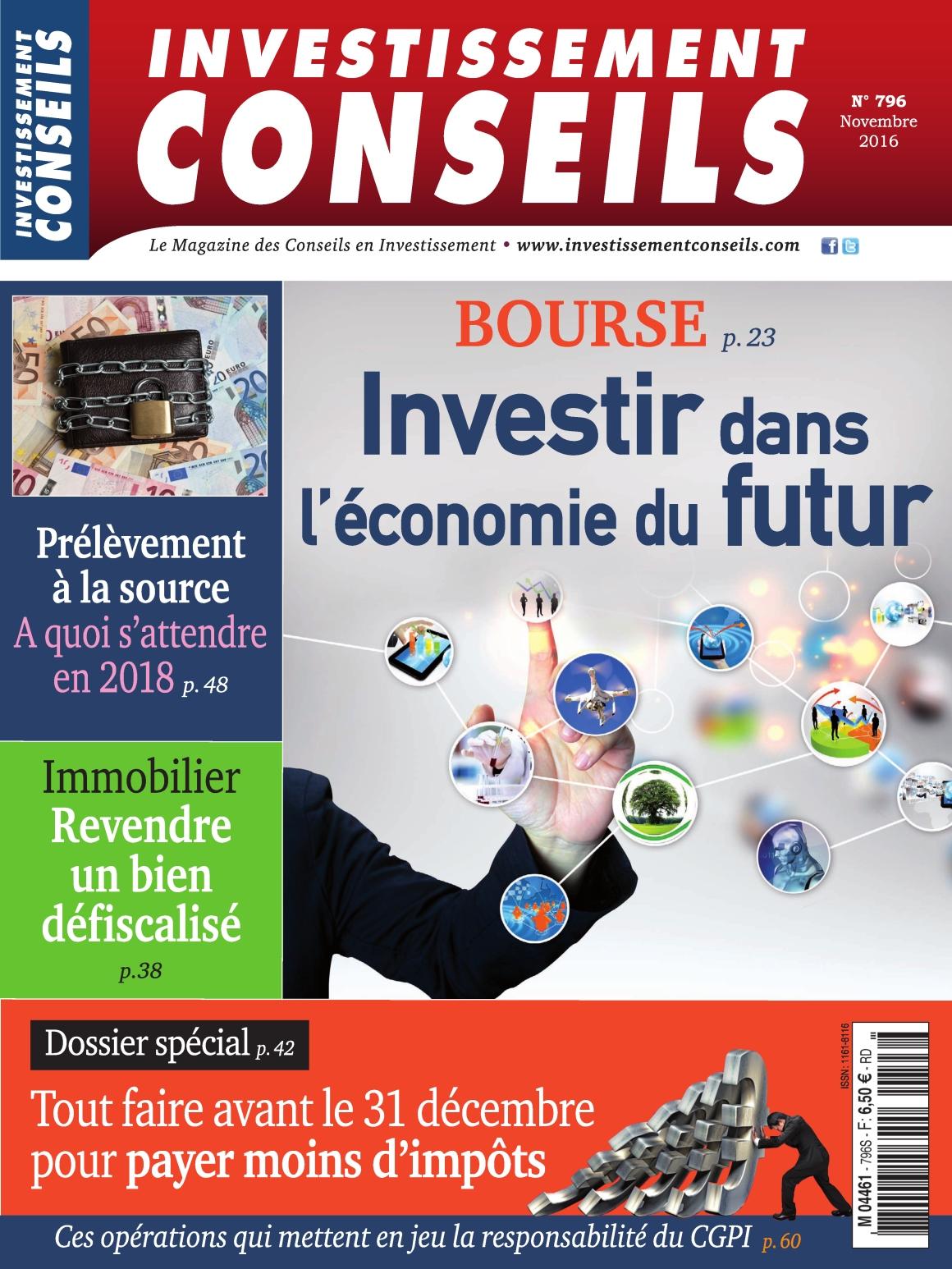 Investissement Conseils N�796 - Novembre 2016