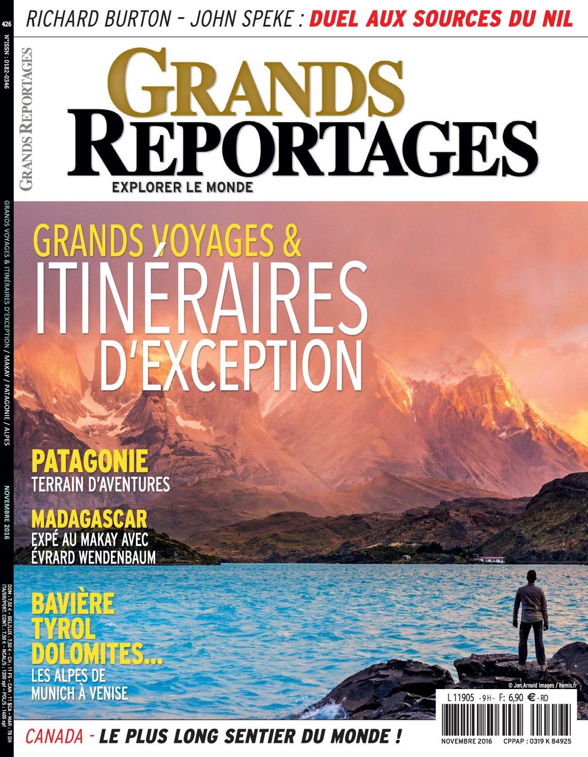 Grands Reportages N°426 - Novembre 2016