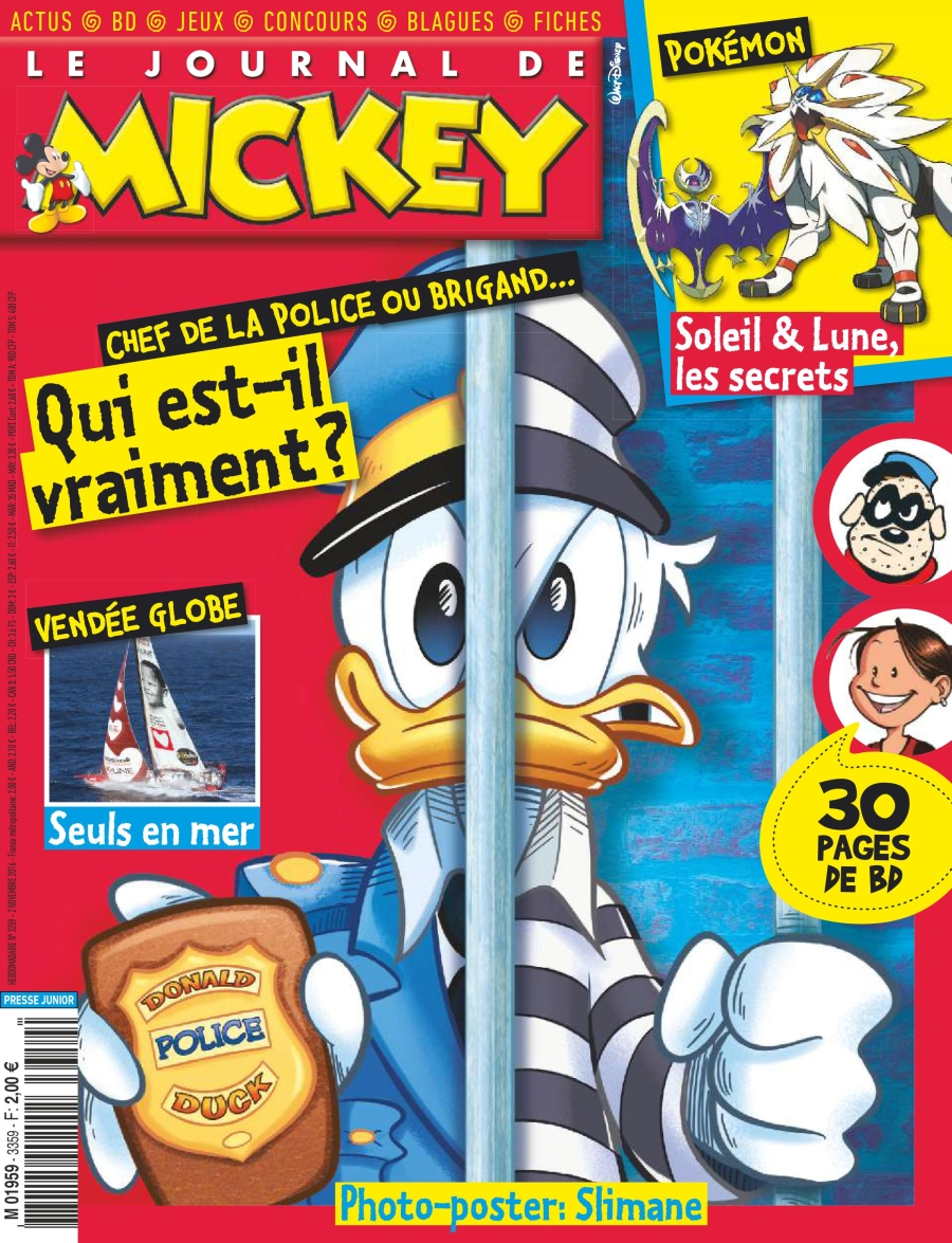 Le Journal de Mickey N°3359 - 02 Novembre 2016