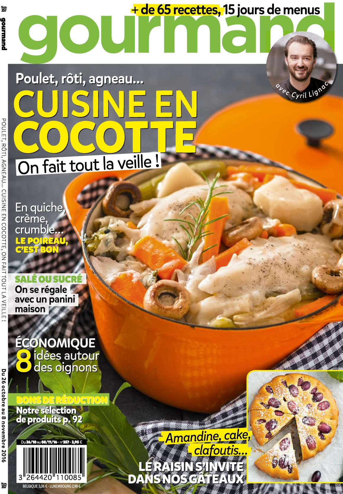 Gourmand 357 - 26 Octobre 08 Novembre 2016