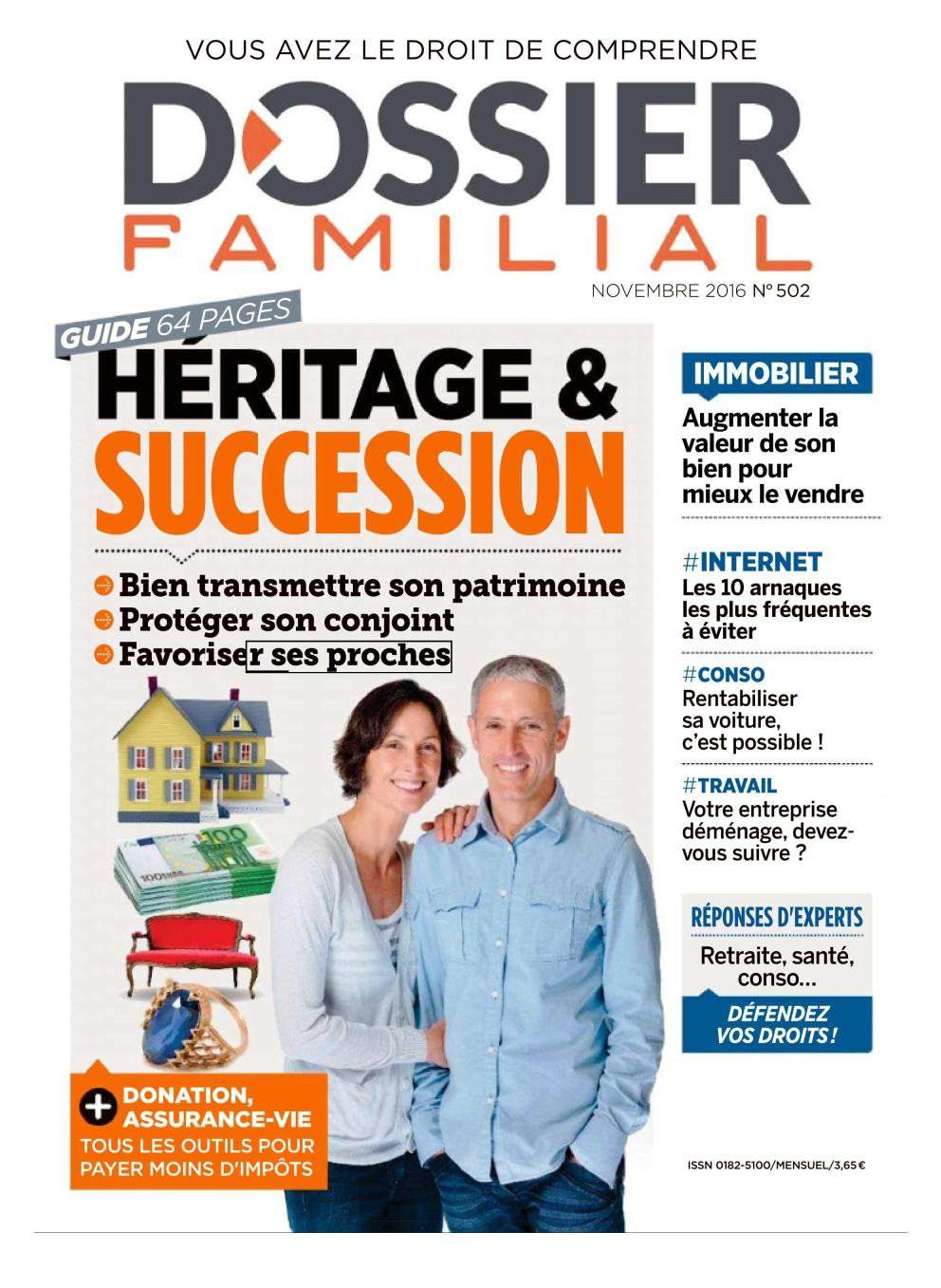 Dossier Familial N°502 - Novembre 2016