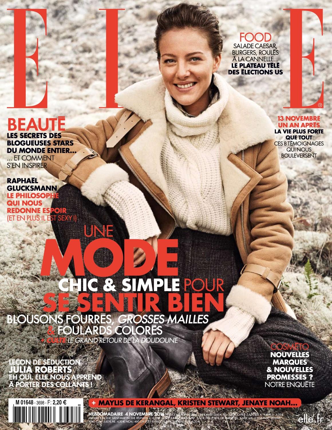 Elle France 3698 - 04 au 10 Novembre 2016