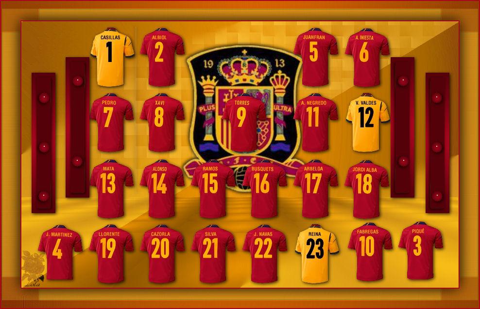 jugadores de España 2012