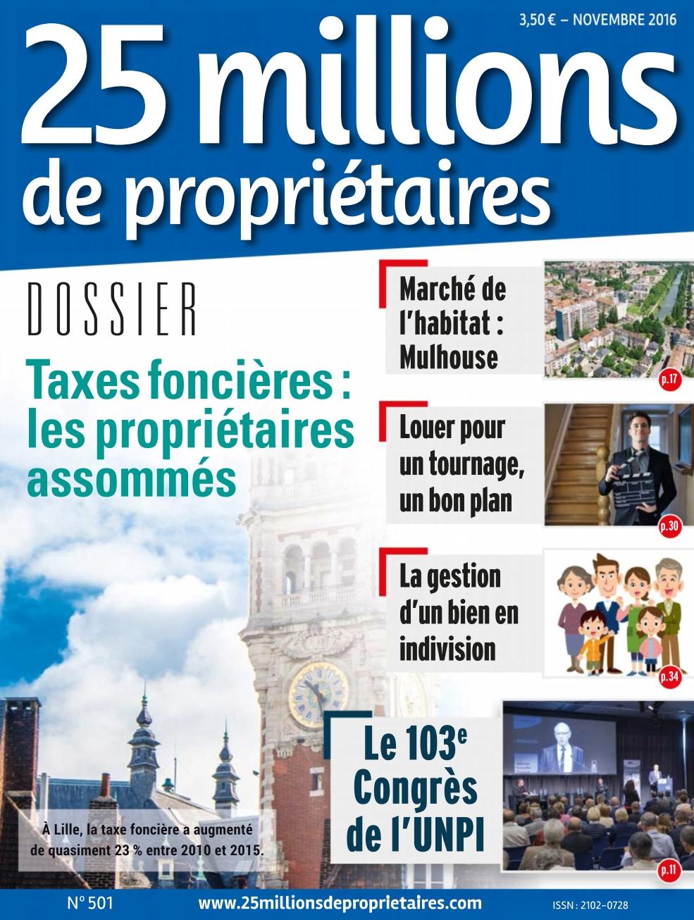 25 Millions de Propriétaires N°501 - Novembre 2016