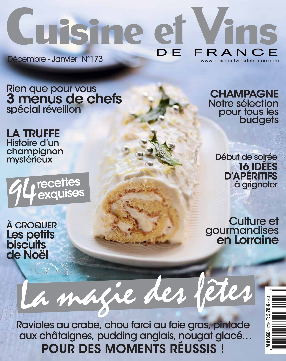 Cuisine et Vins de France N°173 - Décembre 2016/Janvier 2017
