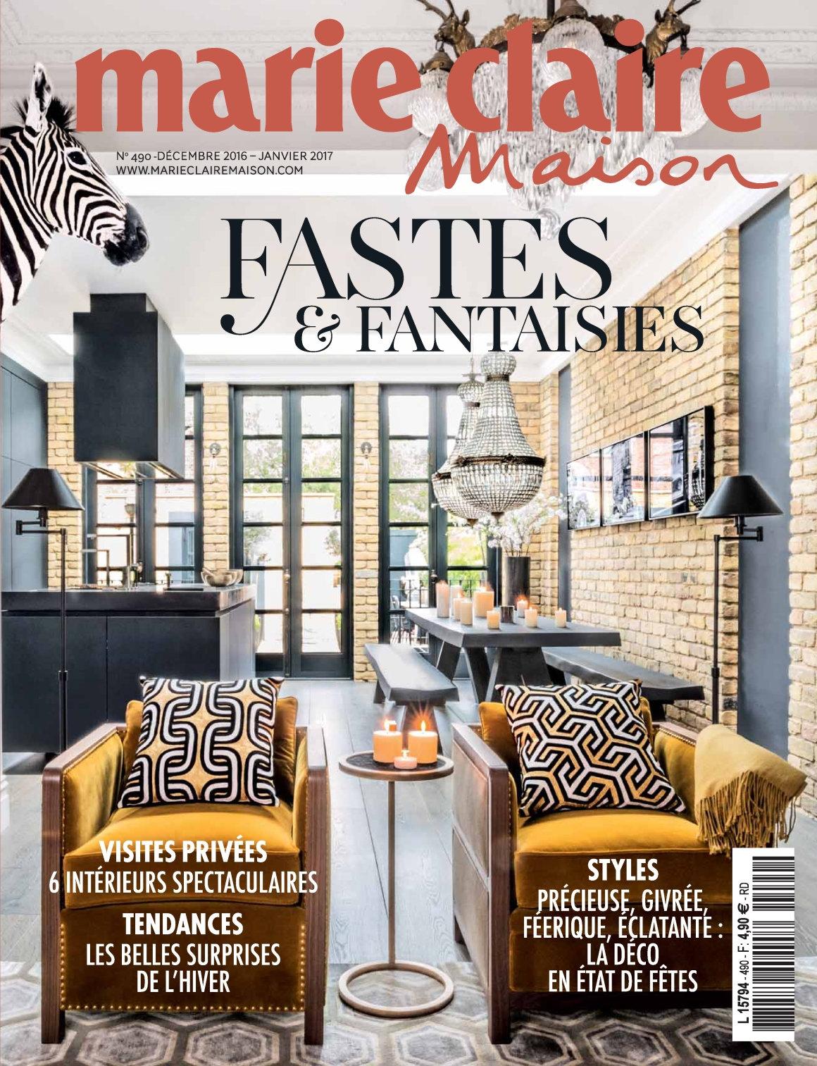 Marie Claire Maison N°490 - Décembre 2016/Janvier 2017