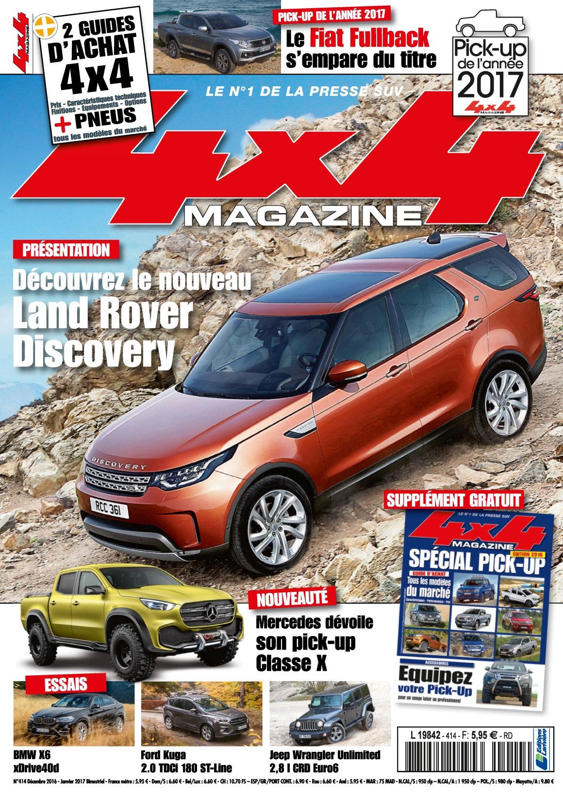 4x4 magazine N°414 - Décembre 2016/Janvier 2017