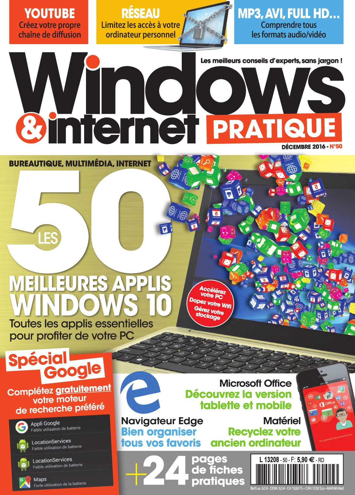 Windows & Internet Pratique 50 - Décembre 2016