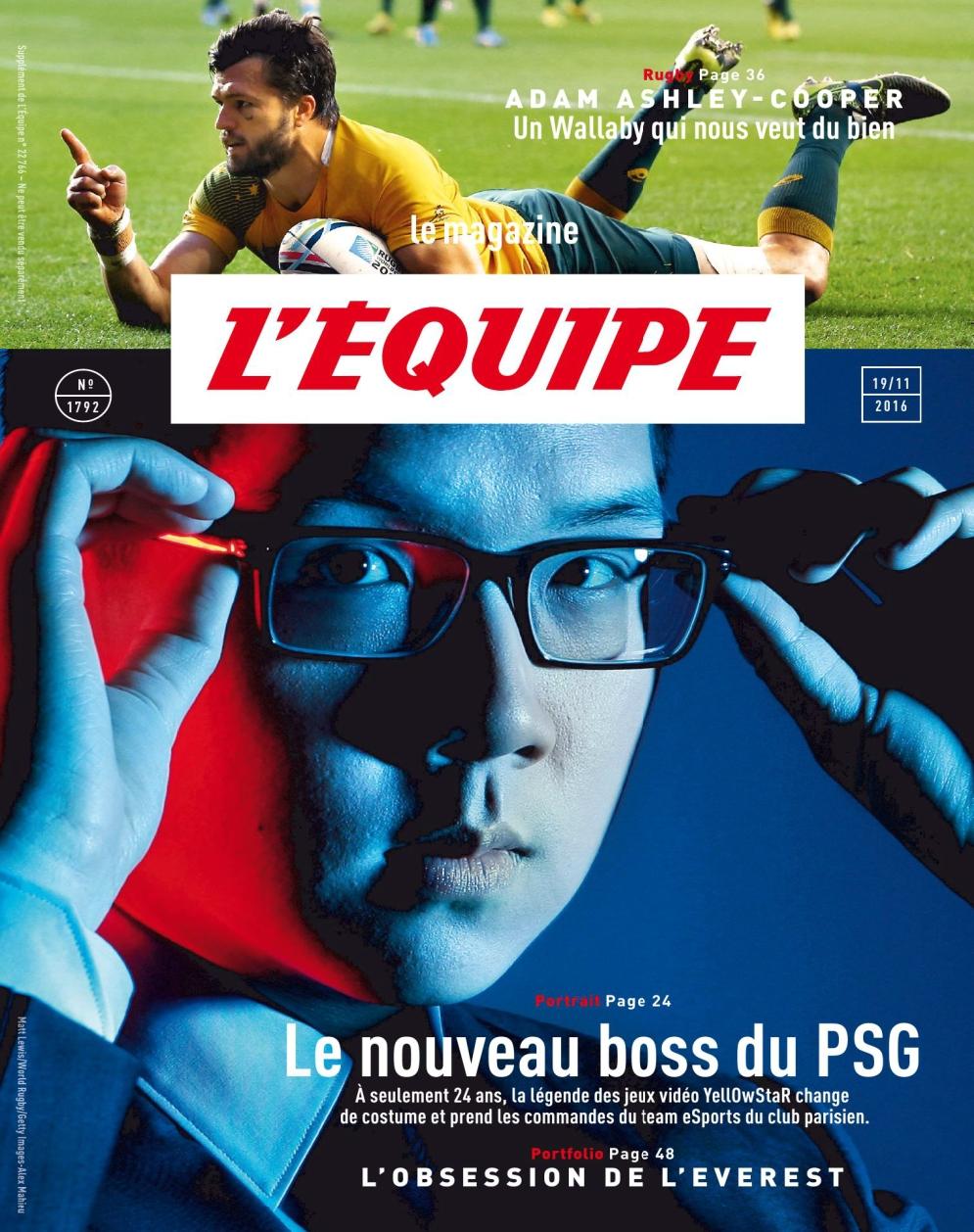 L Equipe Magazine N°1792 - 19 Novembre 2016