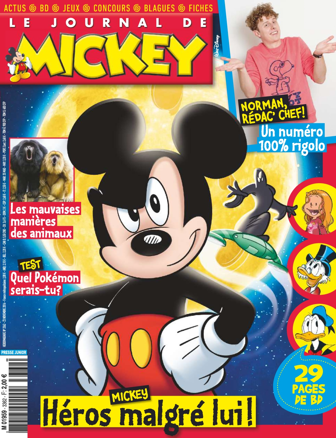 Le Journal de Mickey 3362 - 23 Novembre 2016