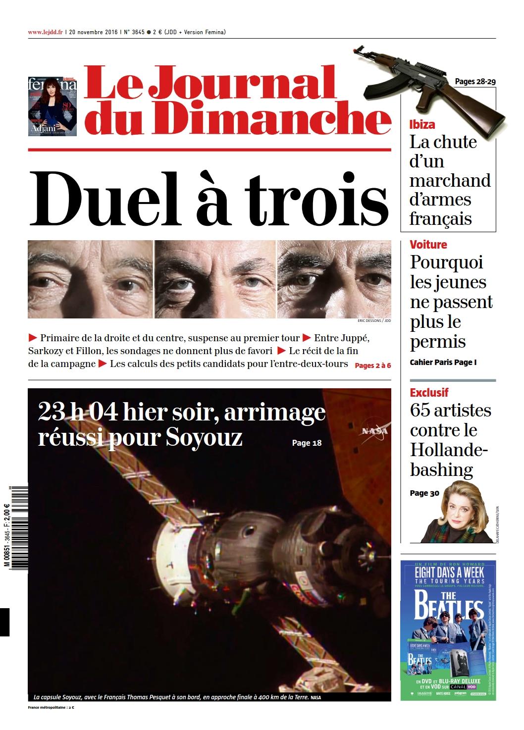 Le Journal du Dimanche 3645 du 20 Novembre 2016