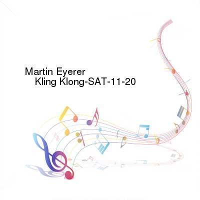 HDTV-X264 Download Links for Martin_Eyerer_-_Kling_Klong-SAT-11-20-2016-TALiON