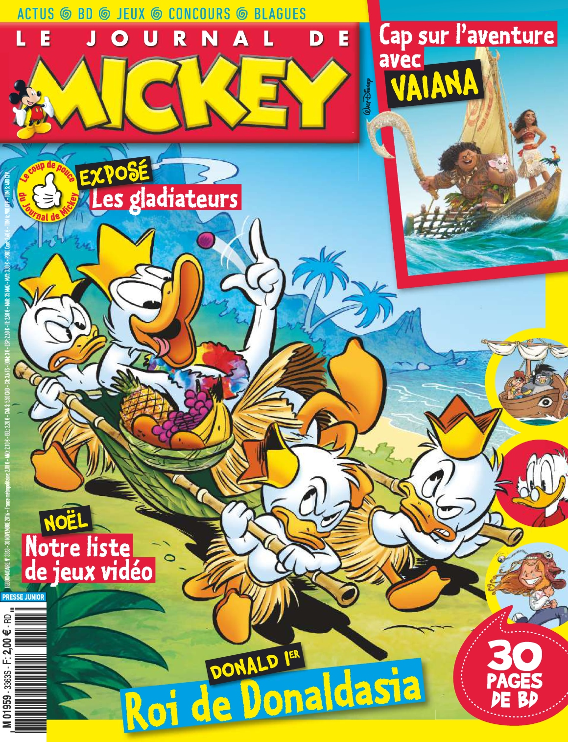 le journal de mickey n 3363 30 novembre 2016 telecharger livres bd comics mangas magazines. Black Bedroom Furniture Sets. Home Design Ideas