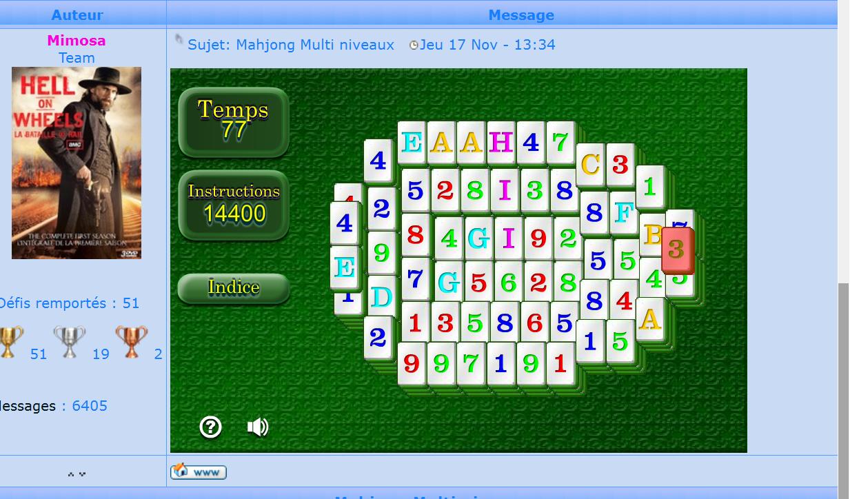 Mahjong Multi niveaux 161128085815674979