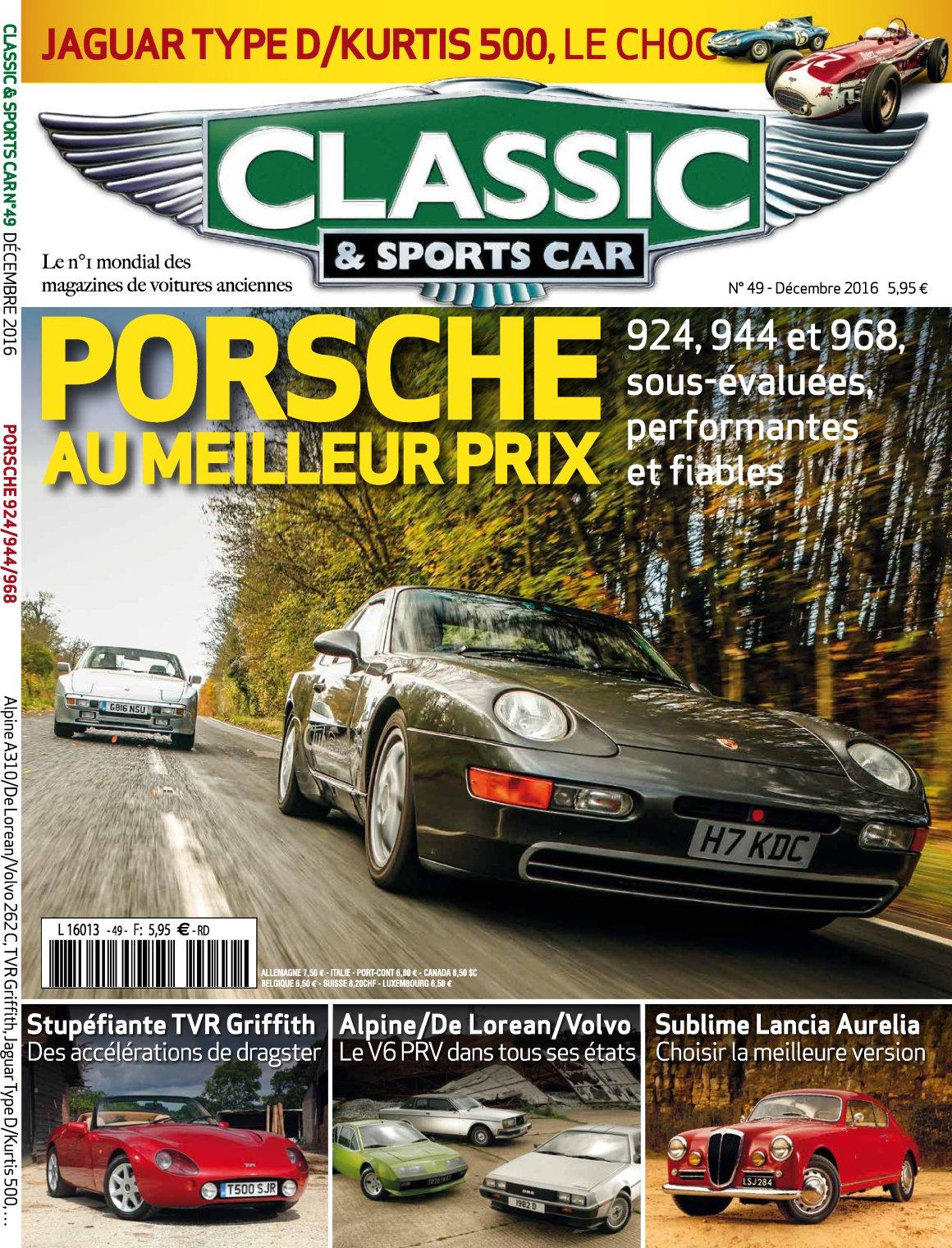 Classic & Sports Car 49 - Décembre 2016
