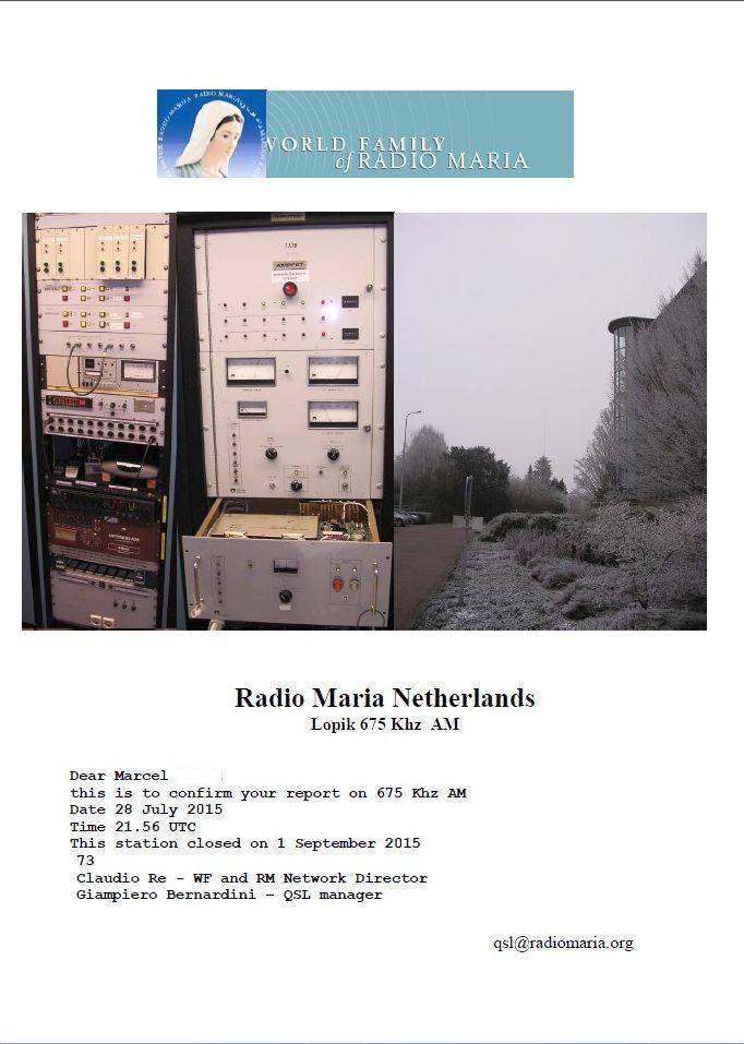 eQSL de R.MARIA  17011311460458094