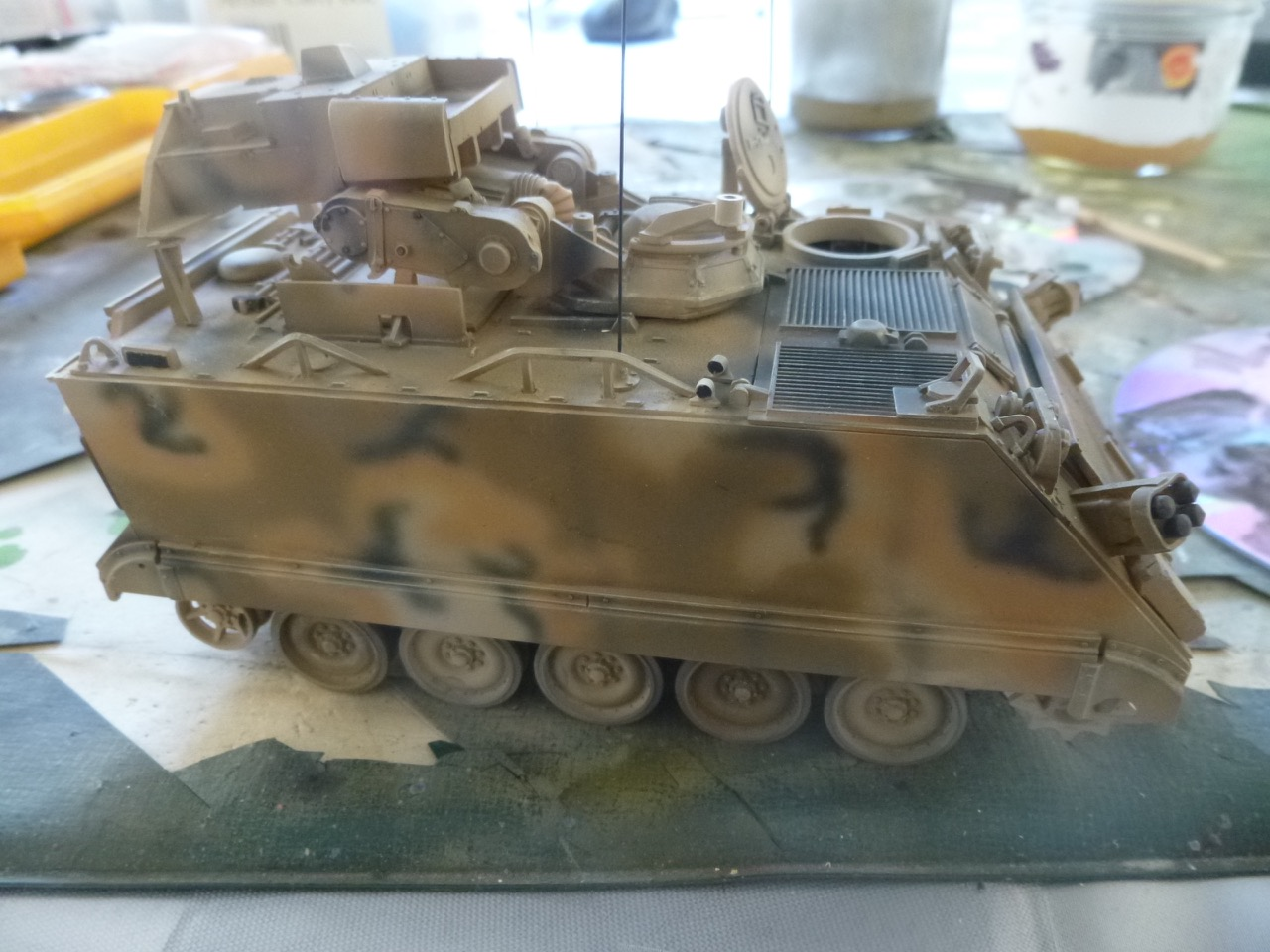 M113 / M109 Tow, une conversion en résine Verlinden au 1/35, base Tamiya 170122124405993028