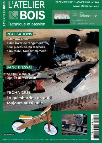L'Atelier Bois N°173 - Décembre 2016/Janvier 2017