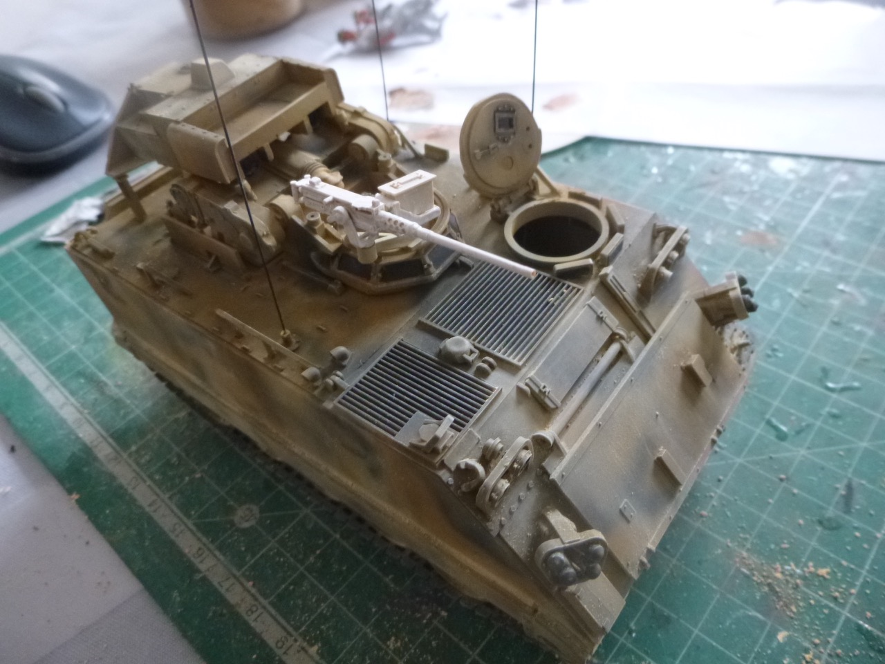 M113 / M109 Tow, une conversion en résine Verlinden au 1/35, base Tamiya 170123124037891806