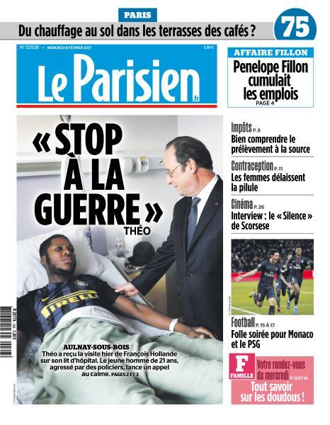 Le Parisien du Mercredi 8 Février 2017