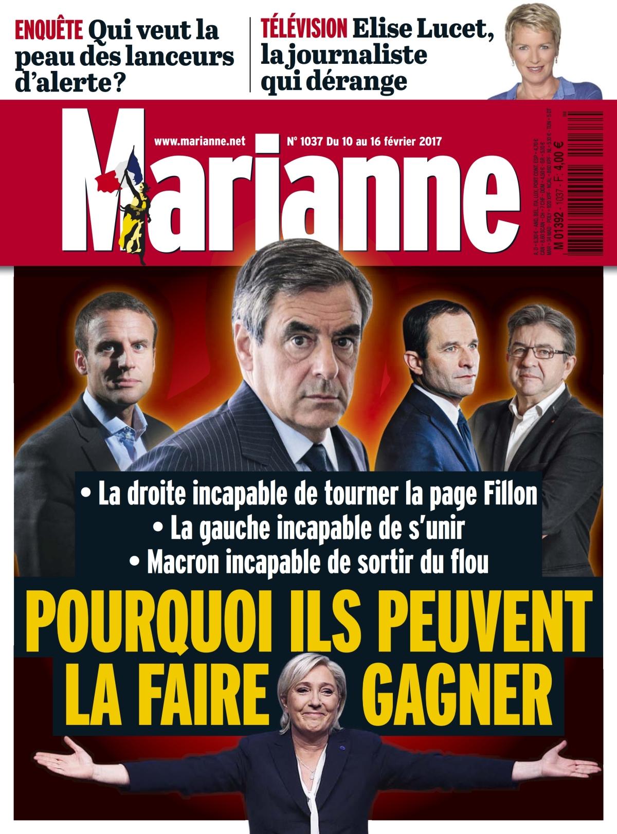 Marianne N°1037 - 10 au 16 Février 2017