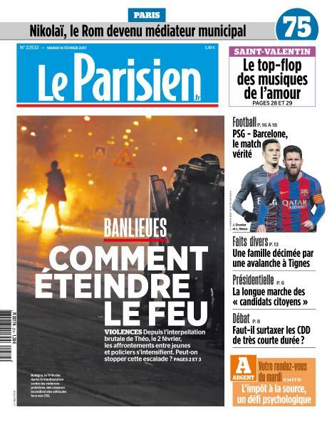 Le Parisien du Mardi 14 Février 2017