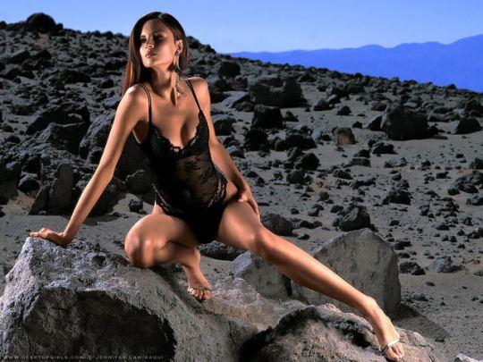 brune sur rocher