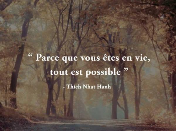 Tout est possible vous êtes en vie