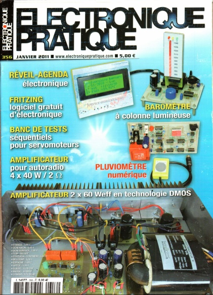 Electronique Pratique N°356 - Amplificateur 2x60 Weff en technologie DMOS