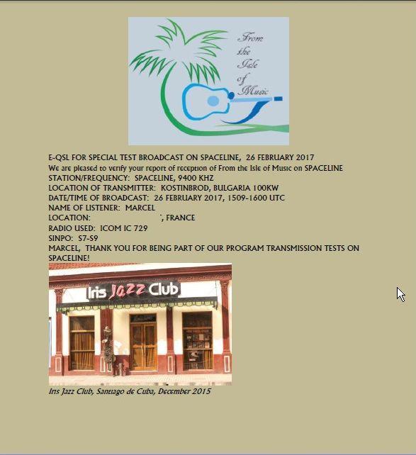 eQSL Isle of Music 17022810172823848