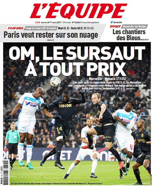 télécharger L'Equipe Du Mercredi 1er Mars 2017