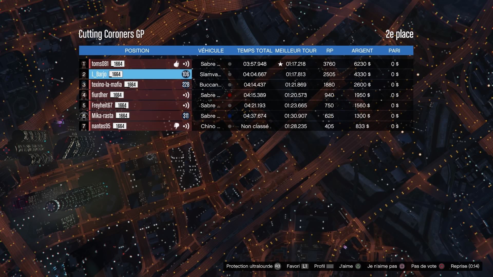 [EVENT][GTA] Born To Race 3 (1/03/17) - Page 2 170302041928569097
