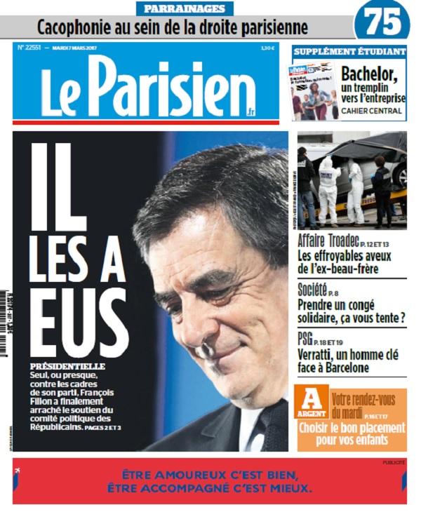 télécharger Le Parisien Du Mardi 7 Mars 2017
