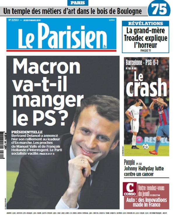télécharger Le Parisien + Journal De Paris Du Jeudi 9 Mars 2017