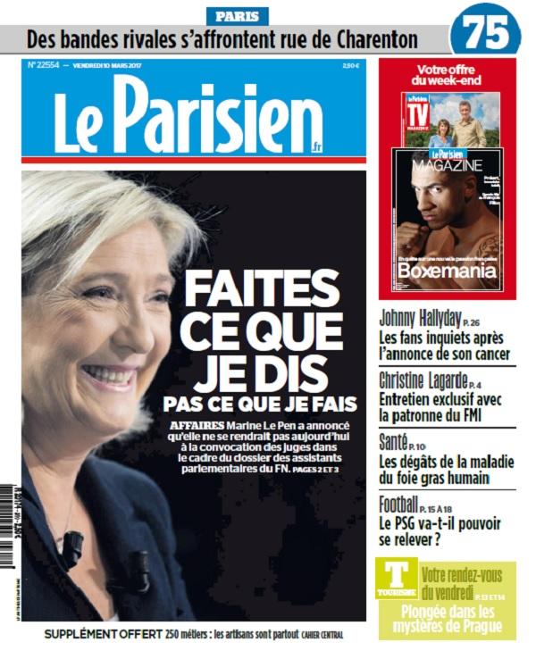télécharger Le Parisien Du Vendredi 10 Mars 2017