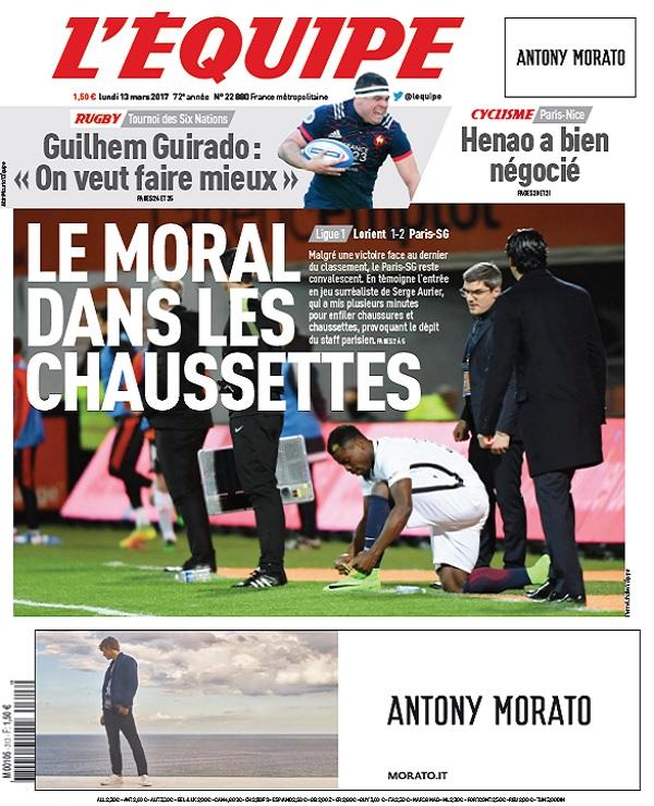 télécharger L'Equipe Du Lundi 13 Mars 2017