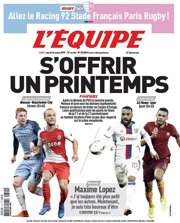 télécharger L'Equipe Du Mardi 14 Mars 2017